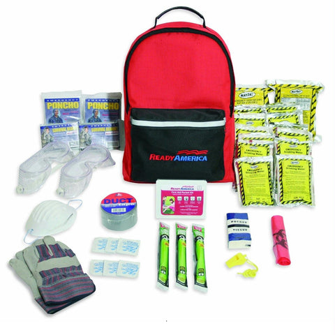 Ready America 2 Person Tornado Hurricane Disaster Emergency Survival Kit-3 Day Pack