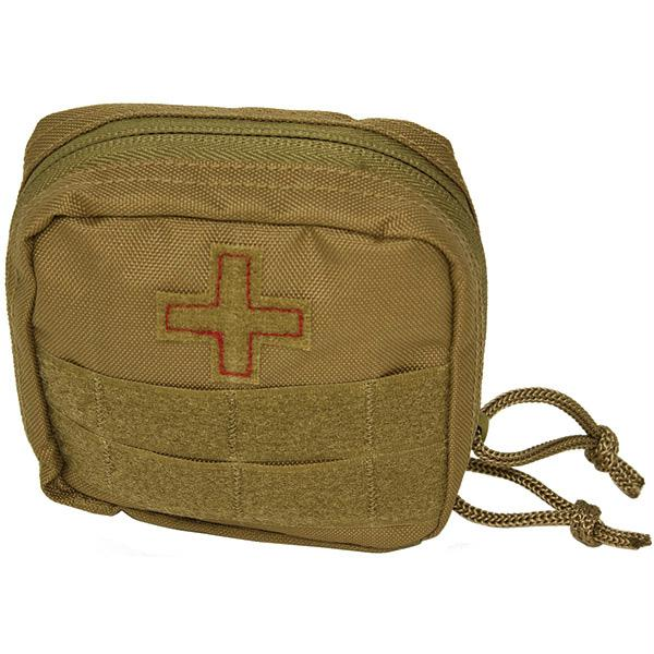 Red Rock Gear Soldier Individual Home Car First Aid Emergency Disaster Survival Kit - Coyote