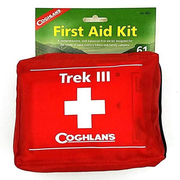 Coghlans Trek III Soft Pack Home Car First Aid Emergency Disaster Survival Kit - Red
