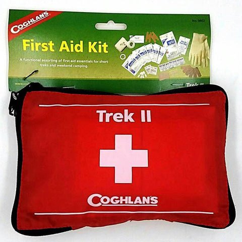 Coghlans Trek II Nylon Soft Pack Individual Home Car Hiking First Aid Emergency Survival Kit - Red