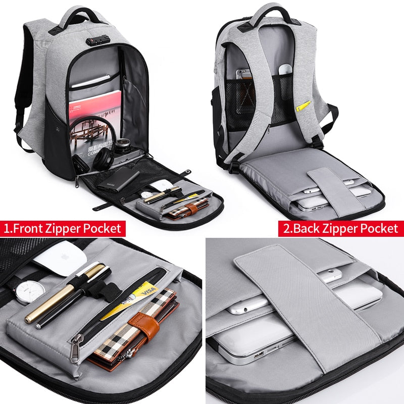 6a327f83869c Anti theft Backpack 15.6