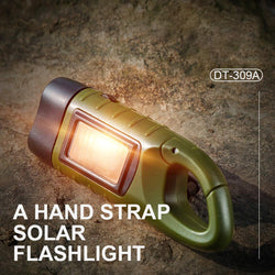 Mini Emergency Hand Crank Dynamo Solar Flashlight
