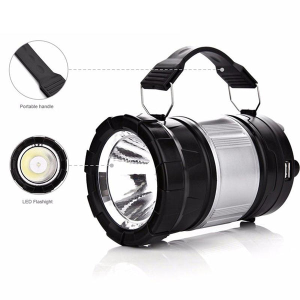 Rechargeable Led Camping Lantern Tac Flashlight Combo