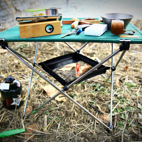 Camping Table Hanging Mesh Organizer