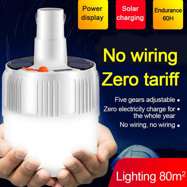 Solar Rechargeable LED Bulb Lamp