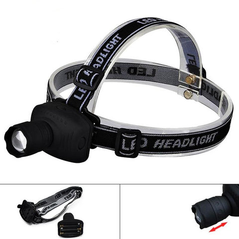 ZK20 Dropshipping LED Headlamp Headlight Frontal Flashlight Head Lamp Torch Head Lamp Outdoor Sports Camping Fishing NO Battery