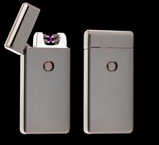 Electric Dual Arc Rechargeable Lighter Plasma  Windproof Flameless Butane Free Torch Lighter