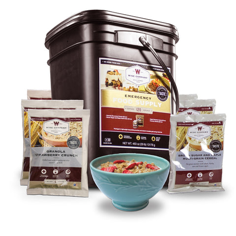 Wise Foods 120 Serving Breakfast Only Grab and Go Bucket