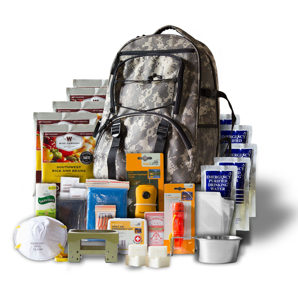 Wise Foods 5 Day Emergency Preparedness Home Survival Backpack Kit
