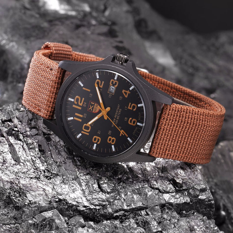 Military Style Analog Watch