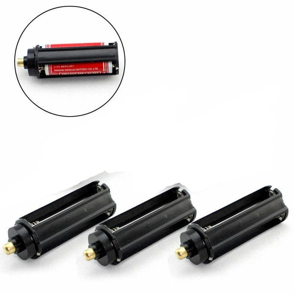 5PCS 3 AAA Battery Holder Case Box Cylindrical For Tactical 18650 LED Flashlight