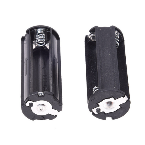 2PC 3 AAA Battery Holder Case Box Cylindrical for LED Flashlight Torch Light USA