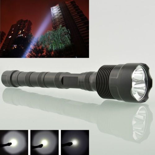 Super Bright Tactical CREE XML 12x T6 LED Tac Light Flashlight Torch + 3x 18650 Battery+Charger