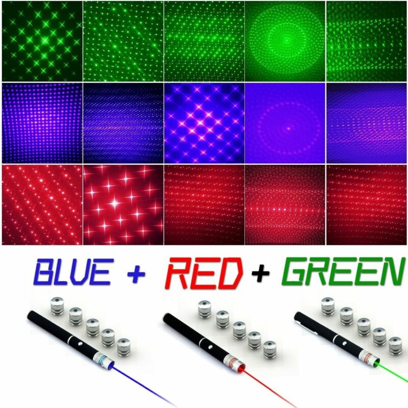 Laser Pointer Pen 5mw Beam - Red + Green + Blue