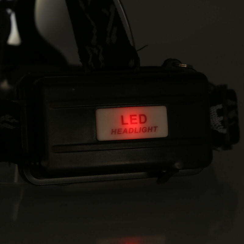 Zoomable Headlamp T6 LED Headlight Flashlight +Charger+18650 Battery