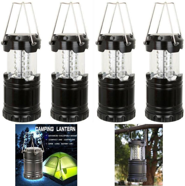 4 Count Collapsible LED Emergency Lamp