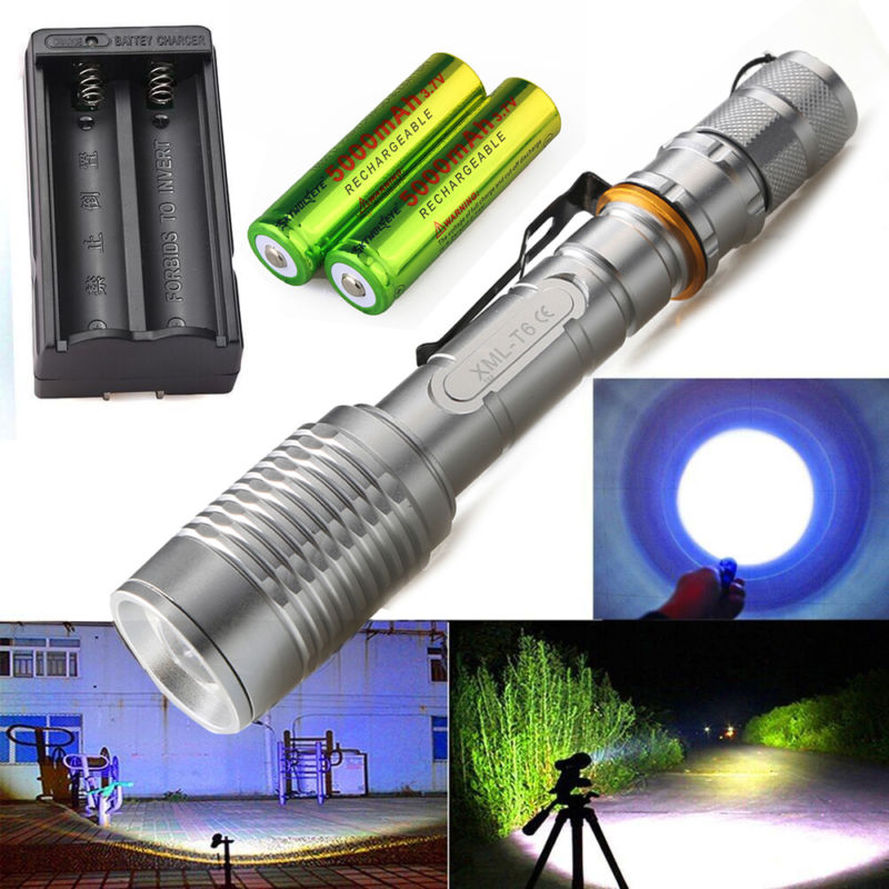 Tactical Police 1200 Lumen T6 LED 5 Modes  Aluminum Flashlight Torch
