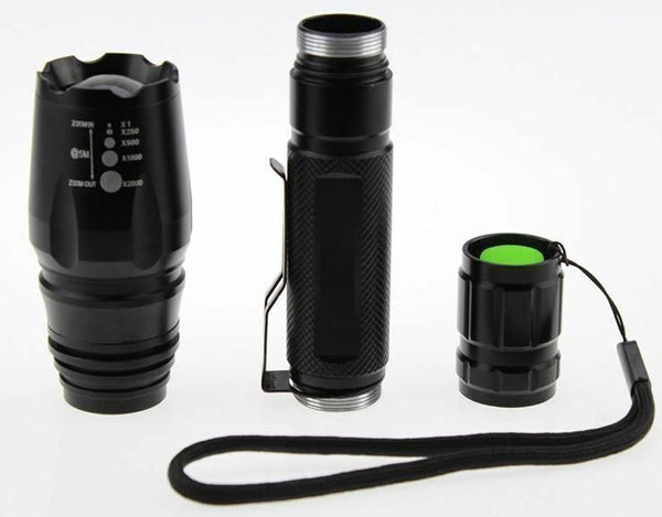 2 x Tactical 1500 Lumens 5 Modes T6 LED Flashlight Torch +18650 Battery+Charge
