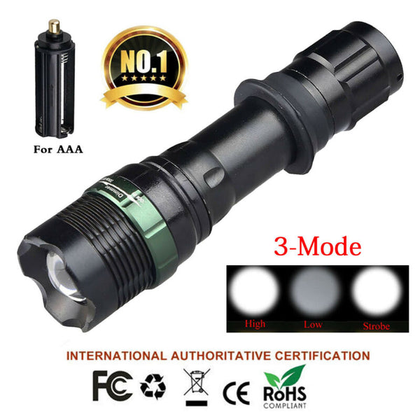 10 Sets Tactical 900 Lumen T6 Zoomable 18650 LED Flashlight