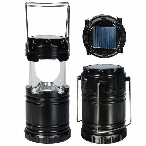 LED Solar Panel Collapsible Rechargeable Camping Light