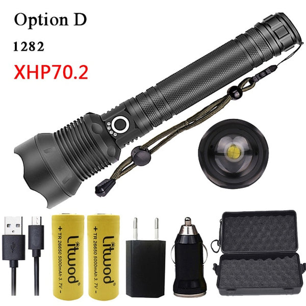 High Power 5000lm Tactical LED Flashlight