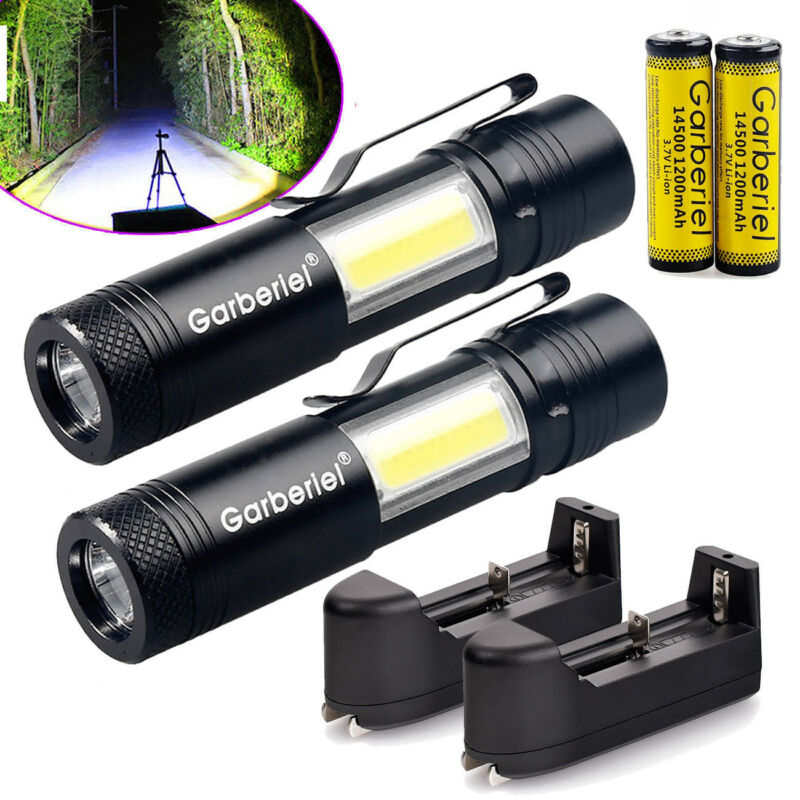 1500LM T6 LED 14500/AA Flashlight Waterproof Torch
