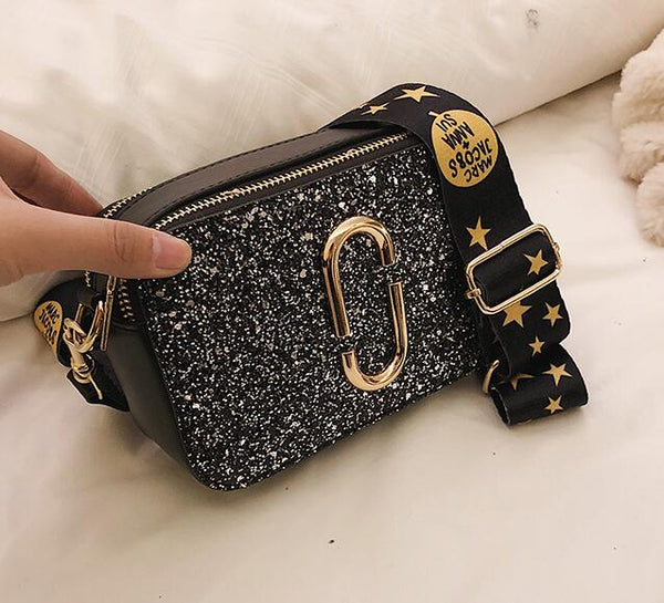 Ladies Sequin Square Bag