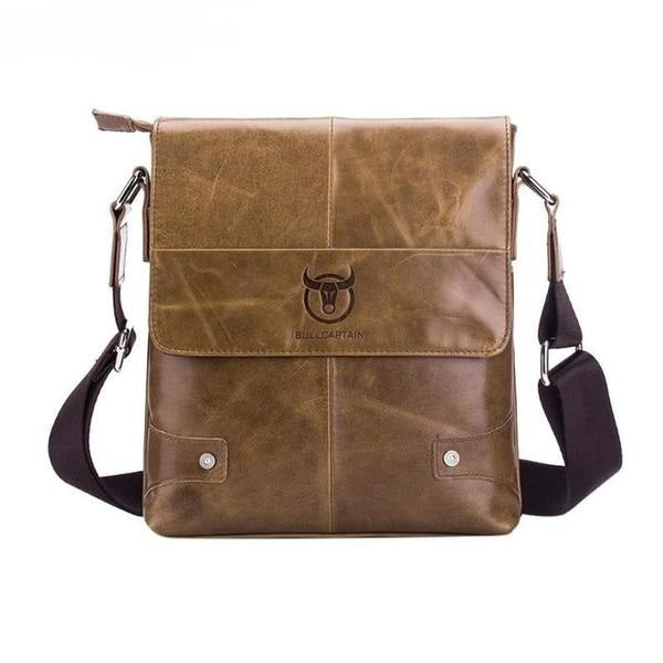 Leather Vintage Men Shoulder Handbag