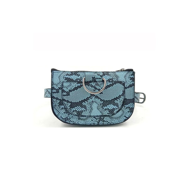 Serpentine Pu Leather Fanny Pack