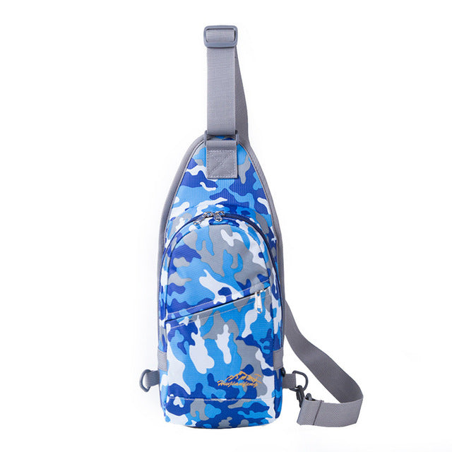 Multi Color Camo Sling Bag Chest Shoulder Gym Hiking Travel Nylon Fanny Backpack