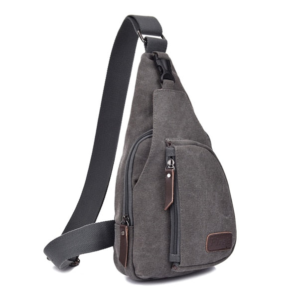 Canvas Multifunction Man Crossbody Bag