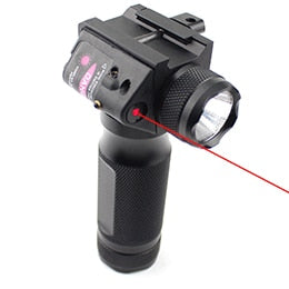 LED Flashlight with Red Green Laser 20mm