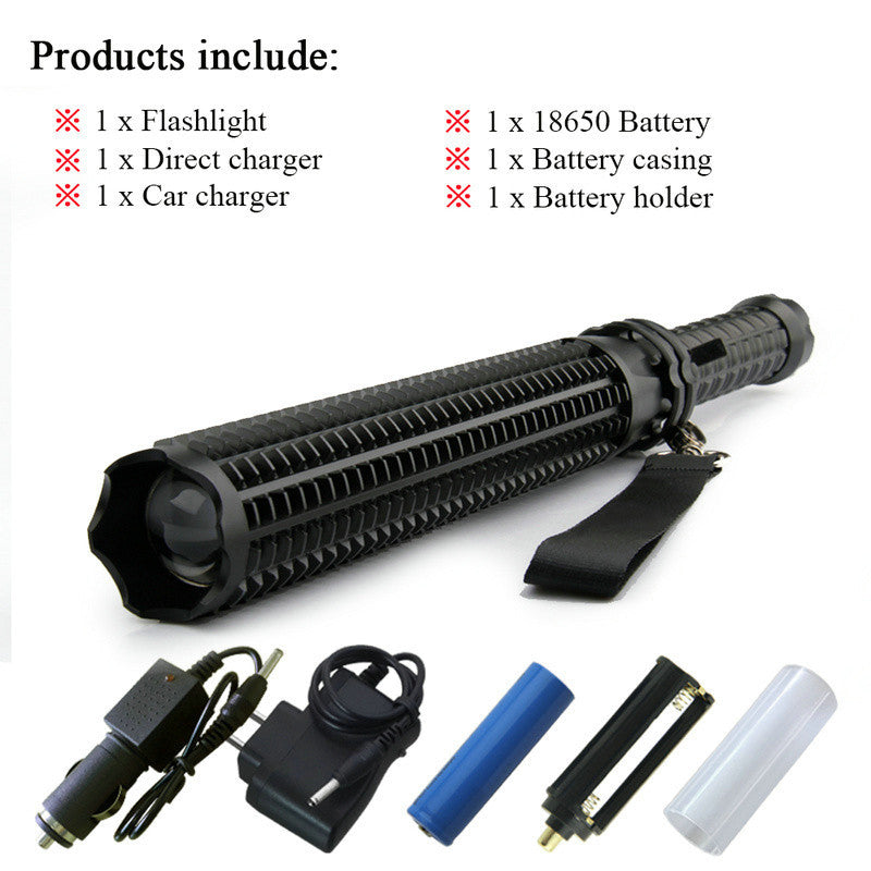 Tactical LED Defense Baton Flashlight