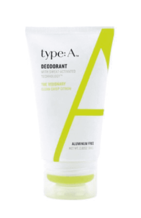 Type A natural deodorant