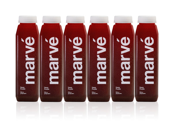marvé deep purple beet ginger cold pressed juice