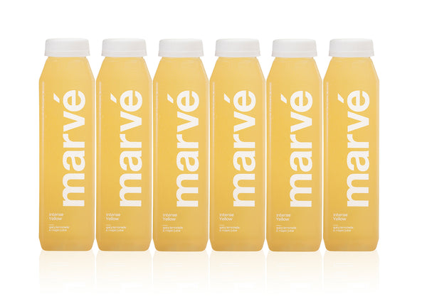 Marve intense yellow spicy lemonade cold pressed juice