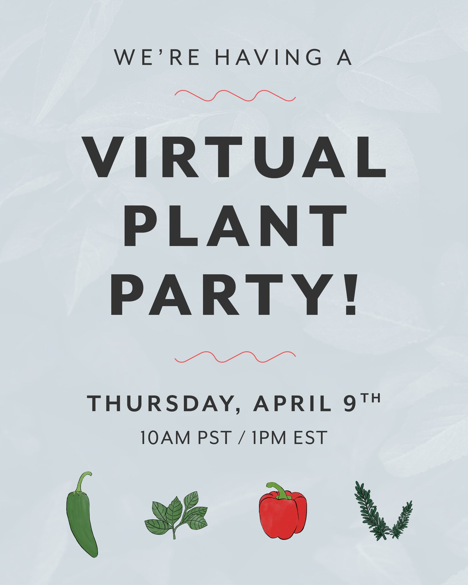 Virtual Plant Party - Veggie and Herbs
