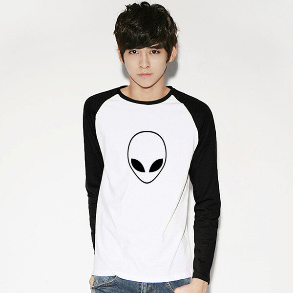 Alien Head Long Sleeve T-Shirt