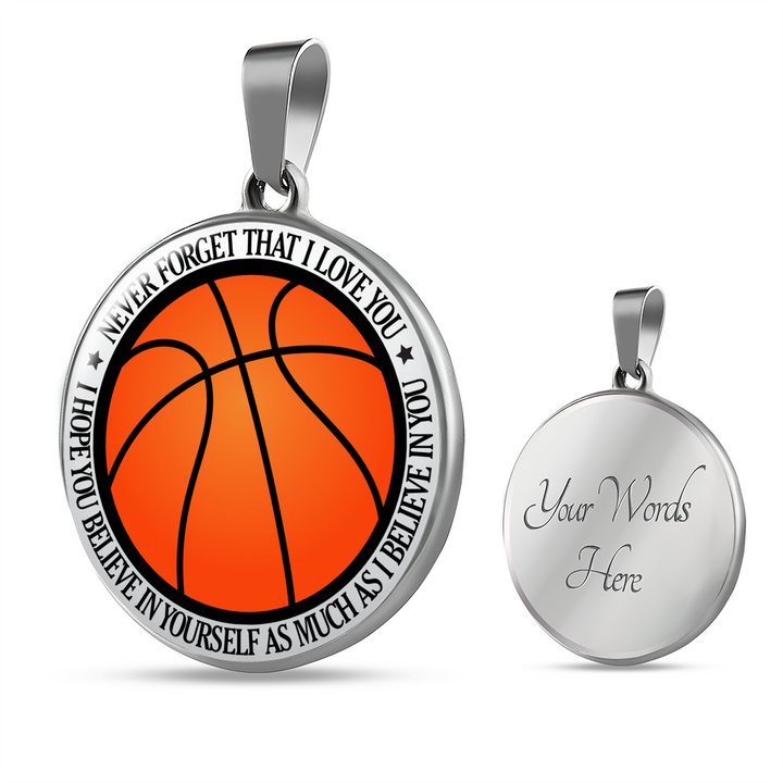 Believe In Yourself - Basketball Necklace!!!