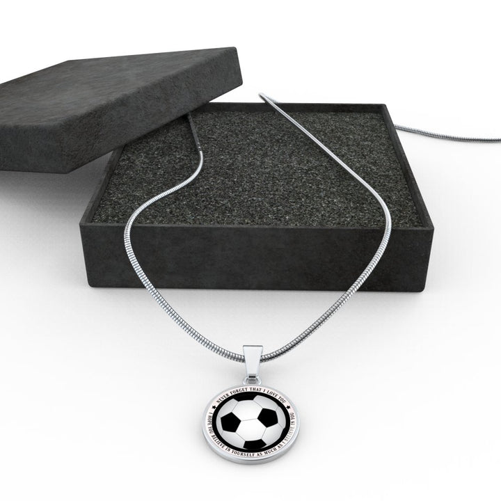 Believe in Yourself Soccer Necklace