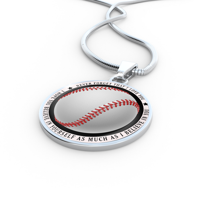Believe in Yourself Baseball Necklace