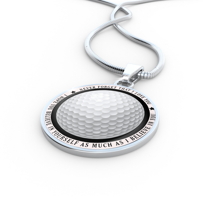 Believe in Yourself Golf Necklace