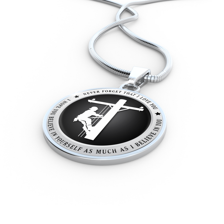 Believe in Yourself (Lineman) Necklace