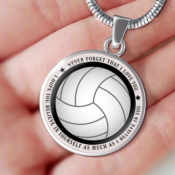 Believe in Yourself Volleyball Necklace