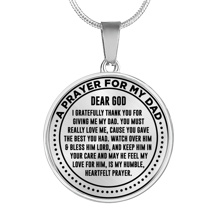 A Prayer for My Dad Necklace