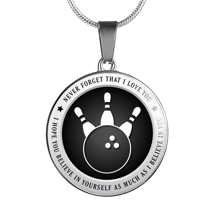 Believe In Yourself Bowling Necklace Gupstyle