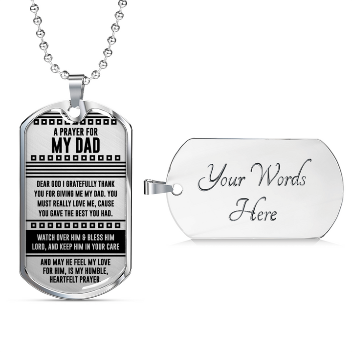 A Prayer for My Dad Dogtag