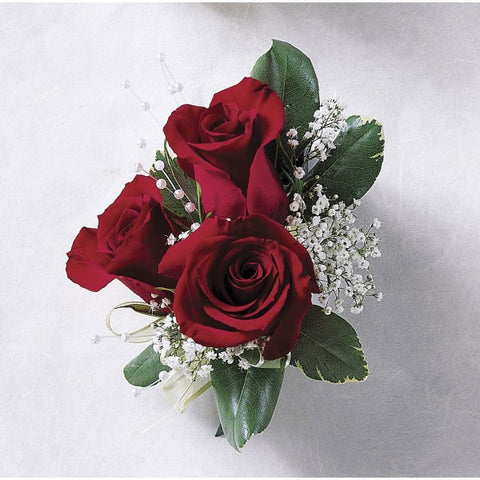 W8 Sweet Red Rose Corsage
