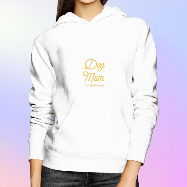 """Dog Mum"" Unisex Hoodie (Gold Text)"