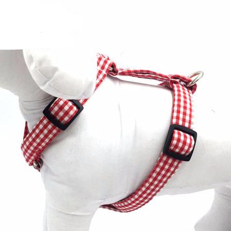 Red&White Plaid Harness and Lead